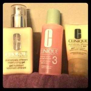 NWOT Clinique face moisturizers&clarifying toner